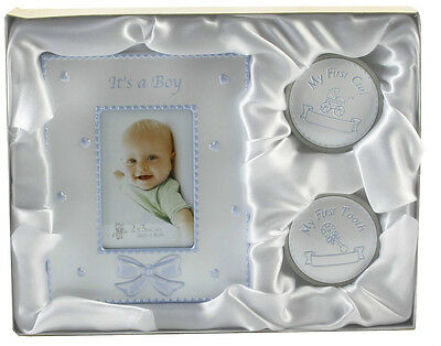 Baby Boy - MY FIRST TOOTH, CURL & PHOTO FRAME - Birth Christening Present