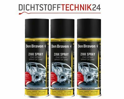 3x Den Braven Zinkspray 400ml