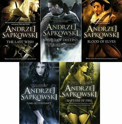 Andrzej Sapkowski 5 Book Set Collection (Witcher Series)