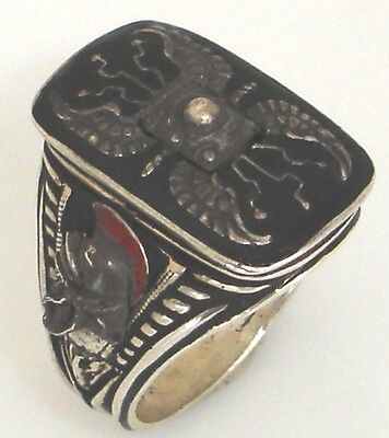 Praetorian Guard Shield ring Sterling Silver Lge
