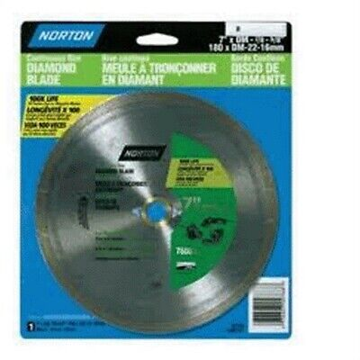 "Norton 02788 7"" Dry Or Wet Cutting Continuous Rim Saw Blade,No 2788"