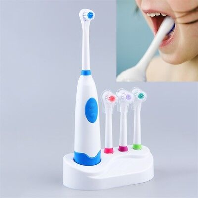 Electric Oral Care Toothbrush Replacement With 4 Teeth Brush Heads Bathroom AO