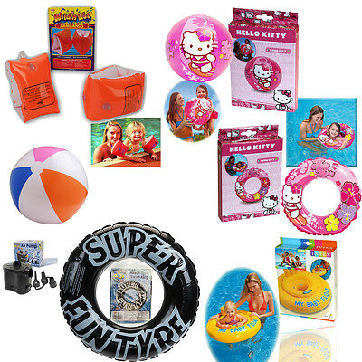 Childrens Kids Inflatable Ring Swim Ring Aid Armbands Beach Ball Summer Holiday