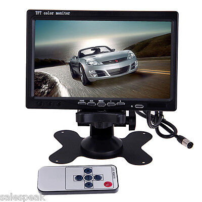 "7"" Color TFT LCD 2 Video Input Car Rear View Headrest Monitor DVD VCR Monitor"