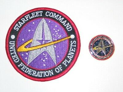 Star Trek: The Next Generation Starfleet Command Logo Patch and Pin Set of 2 NEW