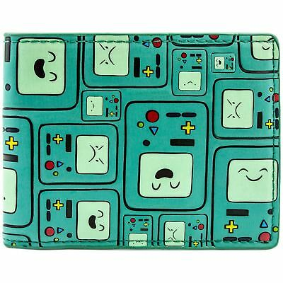 New Official Awesome Bmo Adventure Time Patterned Bi-Fold Wallet