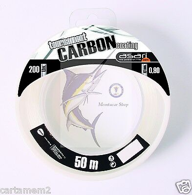 HILO ASARI TOURNM CARBON COATING 80 Lb - 0,55mm - ESPECIFICO PARA BAJO CURRICAN