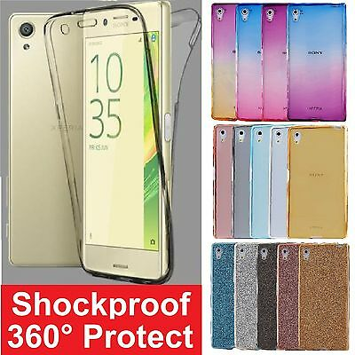Shockproof 360° Protective Silicone Clear Case Cover For Sony Xperia Phones