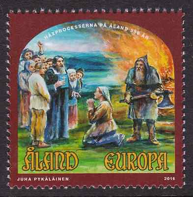 ALAND - 2016 - 350th Annv Witch-Hunt in Aland. Individual stamp, 1v. Mint NH