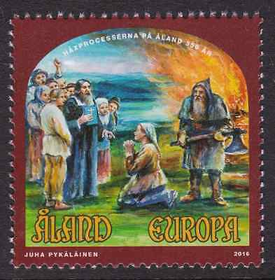 ALAND - 2016 - 350th Annv Witch-Hunting in Aland. Individual stamp, 1v. Mint NH