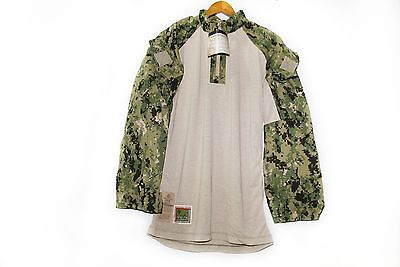 NWT NWU Type III Navy Seal AOR2 Digital Woodland FROG COMBAT FR Top Shirt