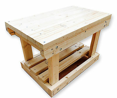 3Ft and 4Ft Handmade Wooden Work Bench FLAT TOP 2Ft