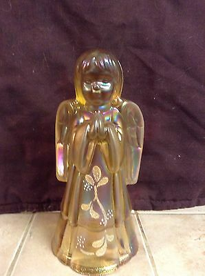 Fenton Iridescent Praying Angel Signed By Artist