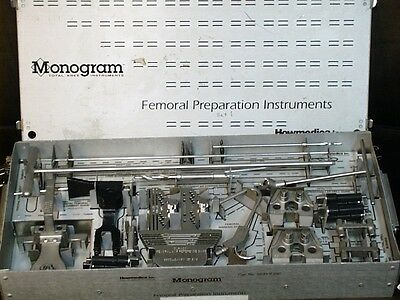 Monogram Howmedica Femoral Preparation Instruments with CASE - surgical tray