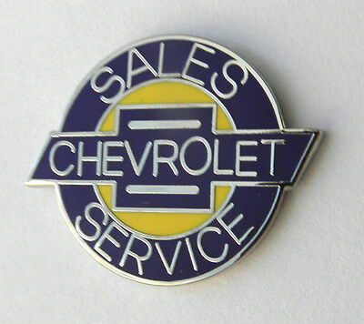 Chevrolet Chevy Sales Service Lapel Pin Badge 3/4 Inch