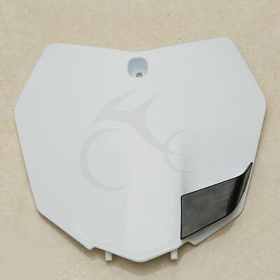 White Plastic Front Number Plate For KTM 200 250 350 450 XC-F 125 150 250 SX