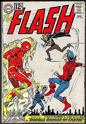The Flash #129 GD+ 2nd Golden Age Flash Crossover 1st Silver App JSA 1962