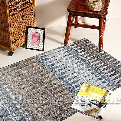BOSTON GREY BEIGE TRIBAL DIAMOND DESIGN MODERN FLOOR RUG RUNNER 80x300cm **NEW**