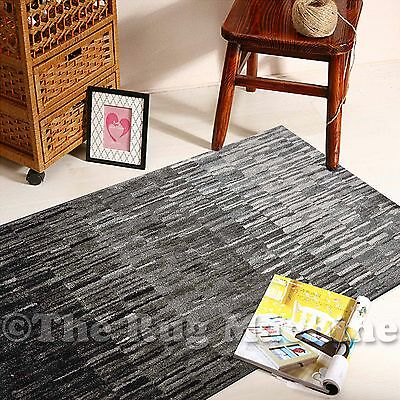 BOSTON BLACK GREY OMBRE FADE DESIGN MODERN FLOOR RUG RUNNER 80x300cm **NEW**
