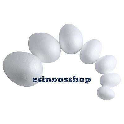 1/10Pcs Modelling Polystyrene Styrofoam Foam Eggs For Easter/Christmas Craft DIY