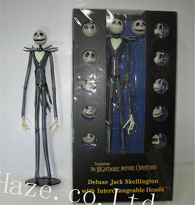 Jack Skellington The Nightmare Before Christmas Action Figure 12 Skull Model Toy