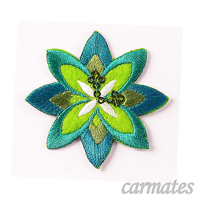 DIY Embroidered Motif Cloth Applique Iron On Patch Sew Clothing Decorations