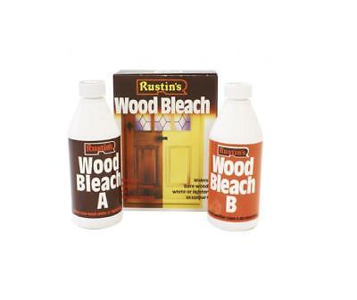 Rustins Wood Bleach Set- Removes weather stains and discolourations
