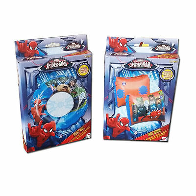 New Ultimate Spiderman Armbands & Swimring Set 3-6 Years
