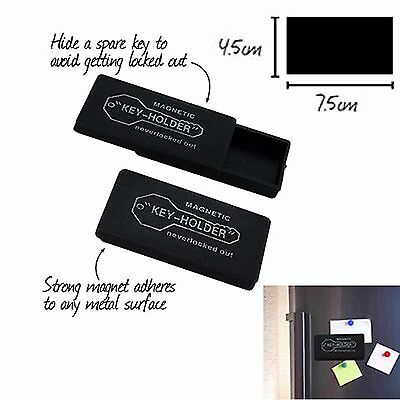 2x Magnetic Spare Key Holder Holders Extra Case Storage Hider Hide Containers