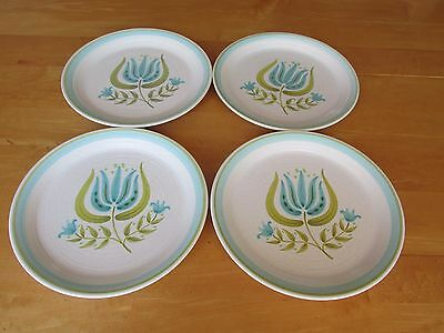 Lot of 4 Beautiful Tulip Time by Franciscan Earthenware Dinner Plates