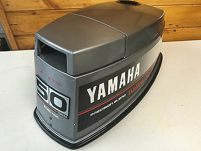 1989 Pro 50 HP Yamaha 2 Stroke Outboard Top Cowl Hood Cover Freshwater MN