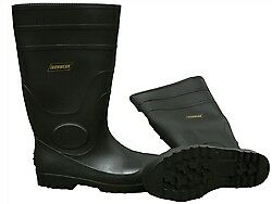 Ironwear 9258B Size 11 Rubber Boots With Steel Toe - Black