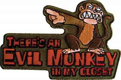 The Family Guy Evil Monkey Figure & Slogan Embroidered Patch, NEW UNUSED
