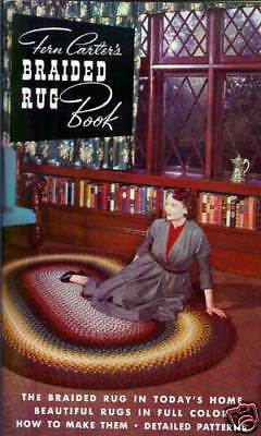Braided Rug Book, Fern Carter, braiding rugs, patterns  New vintage 1953