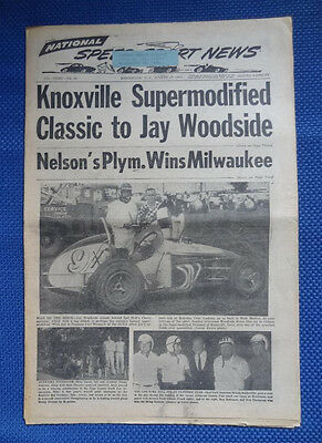 1966 August 17 - NATIONAL SPEED SPORT NEWS - Vintage Auto Car Racing Publication