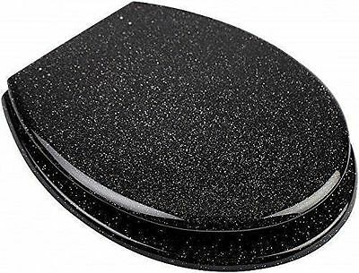 Glittering design toilet seat cover metal hinges Silver, Gold and Black colours
