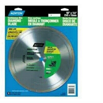 "Blade,10"" Diamond,Cont.Rim by NORTON (SAINT-GOBAIN ABRASIVE)"