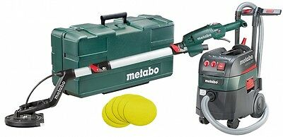 Metabo LSV 5-225 Drywall Plaster Sander With Auto Wet/Dry Dust Extractor Combo