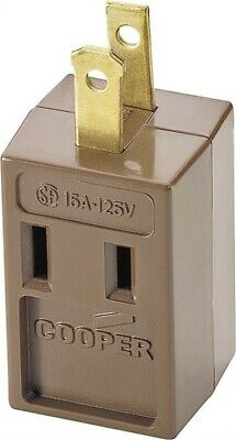 Brwn 3out 3wire Gnd Cube Tap,No 4400B-BOX,  Cooper Wiring Devices Inc