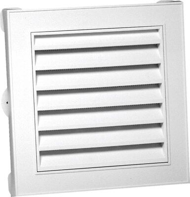 Gable Vent 12x12in Wht Square,No 626043-00,  Canplas Inc