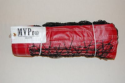 "Beach VB Net - Red - Heavy Duty Professional 3"" Tapes all around - Cable Top."