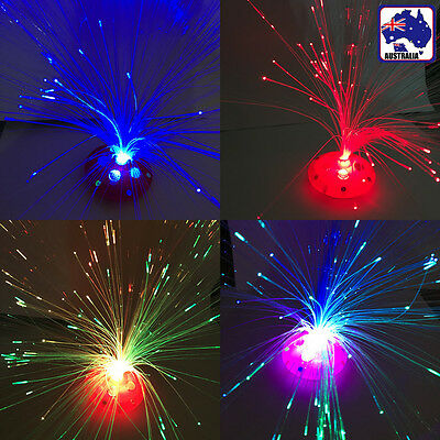 Fiber Optic Color Changing LED Night Light Lamp Party Kid Gift Toy UFO GHGLI77