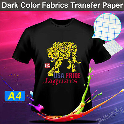 "20 PCS A4 Inkjet Heat Transfer Paper for Dark Color T-shirt:8.2"" by 11.7"""