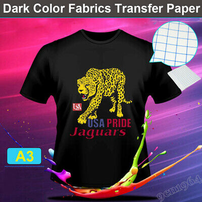 "10*A3 Inkjet heat transfer iron on paper for Dark color fabric 11.7"" by 16.5"""