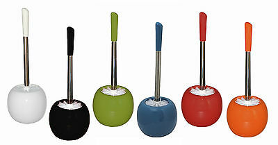 BURSTENMANN Round Ceramic Toilet Brush Set