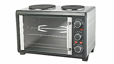Trent & Steele TS28 Benchtop Oven - 28 Ltr Capacity + Double Hot Plate