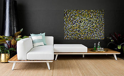 "Art Painting fish large 47"" original modern abstract canvas Australia original"