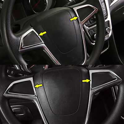 For Opel Vauxhall Mokka X Chrome Steering Wheel Switch Button Panel Cover Trim
