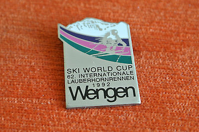 13781 Pin's Badge Broche Brooch Ski World Cup Wengen Suisse Switzerland 1992