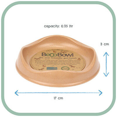 Beco Pets Becobowl Pet Bowl for Cats, Brown, Premium Seller, Fast Dispatch